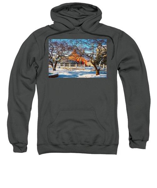 Morning Light, Winter Garden. Sweatshirt