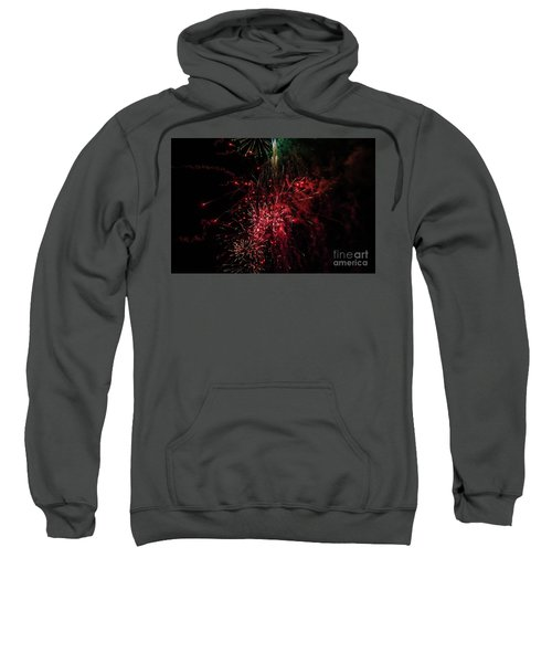 Mostly Red And White Fireworks Sweatshirt