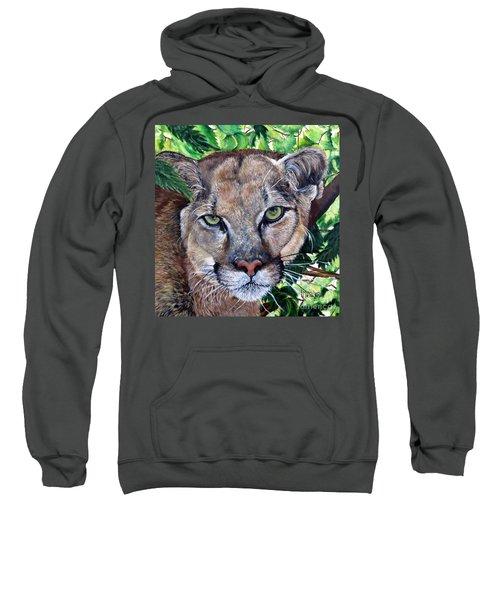 Mountain Lion Portrait Sweatshirt