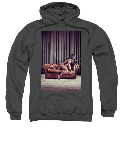 Naked Man With Mask On A Sofa Sweatshirt