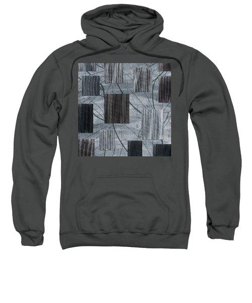 Neutral Toned Leaf Square Print Sweatshirt