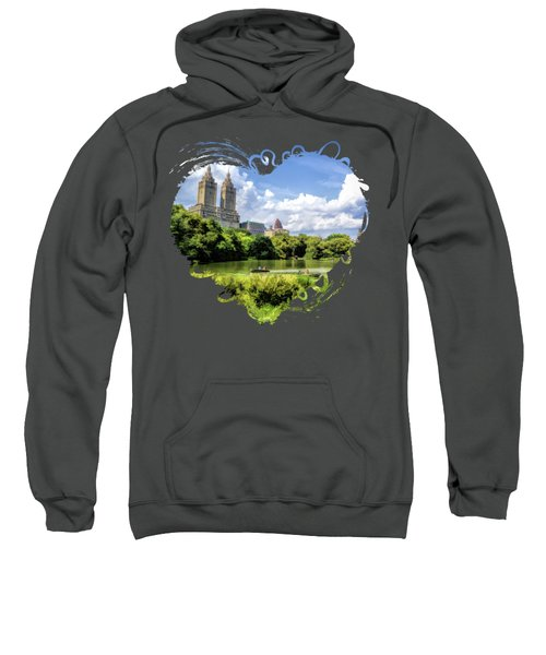 New York City Central Park Lake Rowboats Sweatshirt