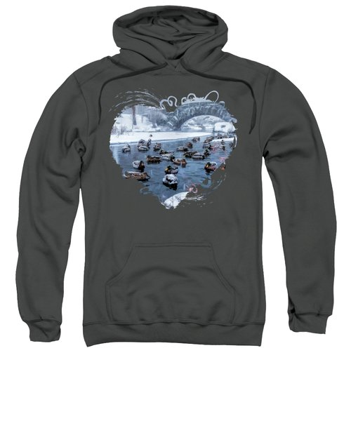 New York City Central Park Winter Ducks Sweatshirt