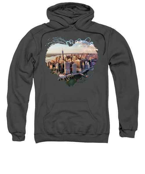 New York City Manhattan Aerial Skyline Sweatshirt
