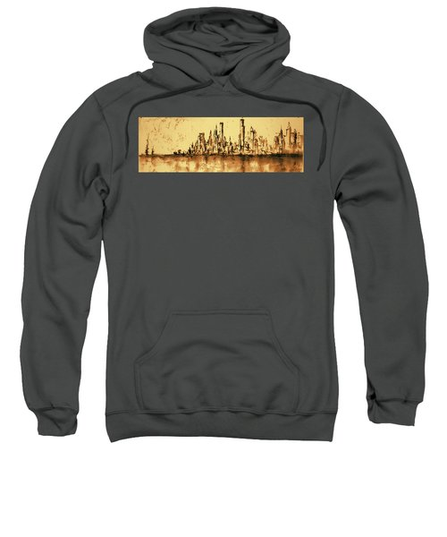 New York City Skyline 79 - Water Color Drawing Sweatshirt