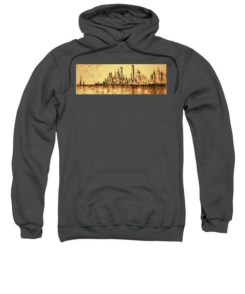New York City Skyline 79 - Water Color Drawing Sweatshirt