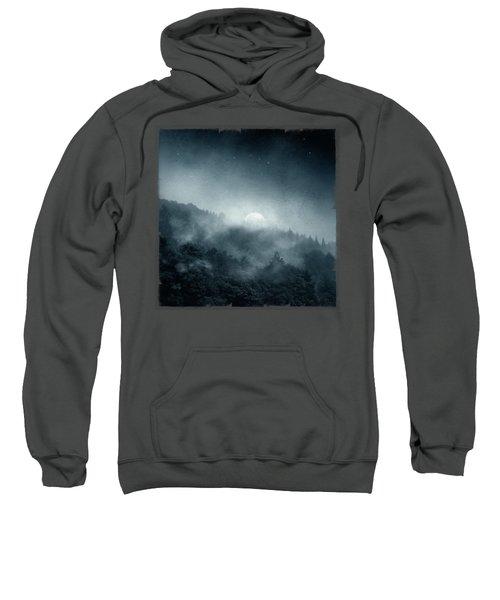 Night Shadows - Misty Forest At Night Sweatshirt