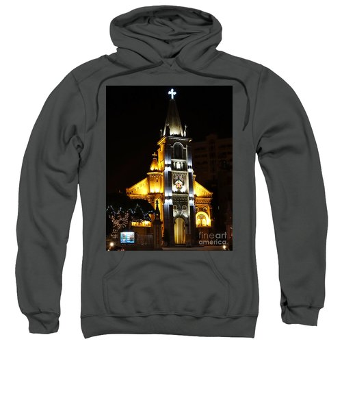 Night View Of The Holy Rosary Cathedral Sweatshirt