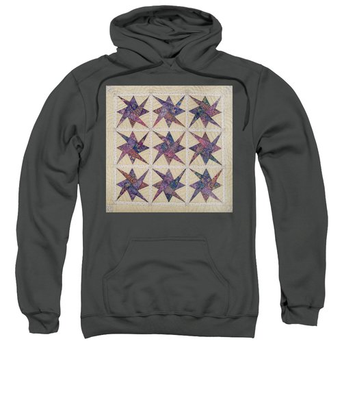Nine Stars Dipping Their Toes In The Sea Sending Ripples To The Shore Sweatshirt