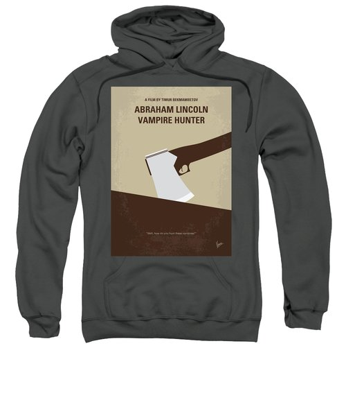 No1009 My Abraham Lincoln Vampire Hunter Minimal Movie Poster Sweatshirt