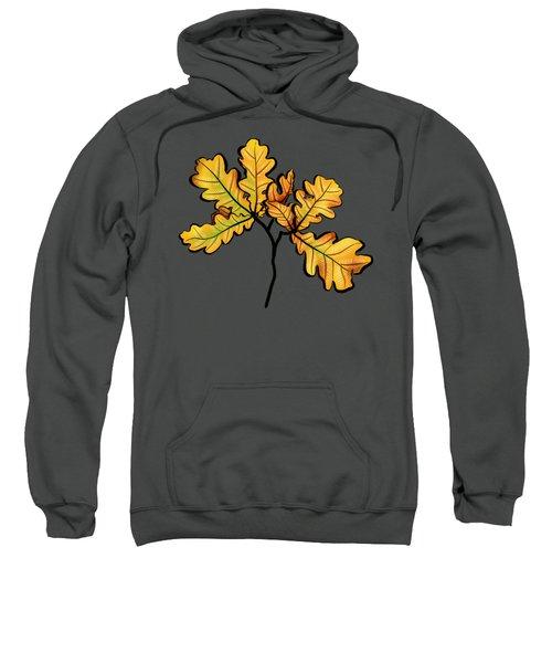 Oak Leaves Autumnal Botanical Art Sweatshirt