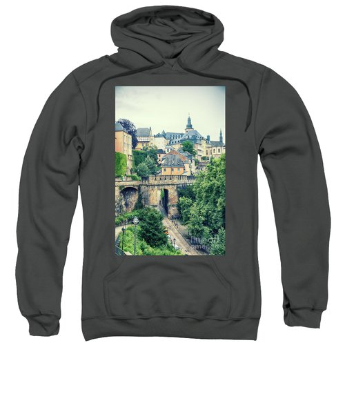 old city Luxembourg from above Sweatshirt