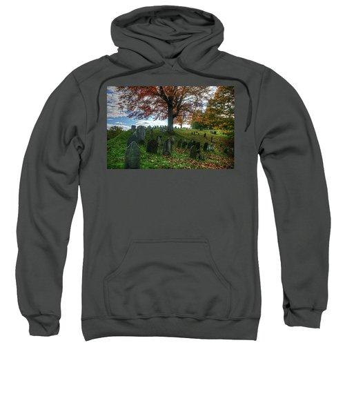Old Hill Burying Ground In Autumn Sweatshirt