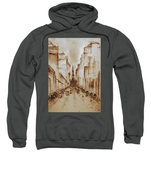 Old Philadelphia City Hall 1920 - Pencil Drawing Sweatshirt