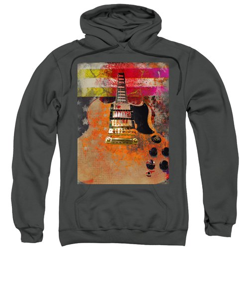 Orange Electric Guitar And American Flag Sweatshirt