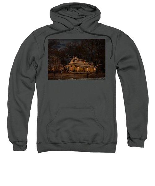 Painted Lady In Winter Sweatshirt