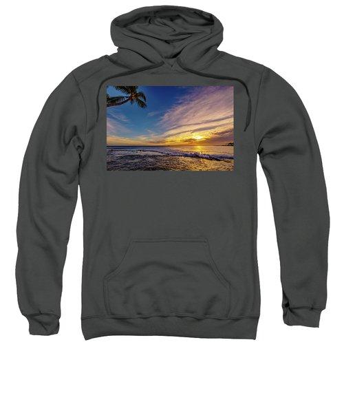Palm Wave Sunset Sweatshirt