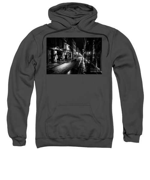 Paris At Night - Rue De Vernueuil Sweatshirt