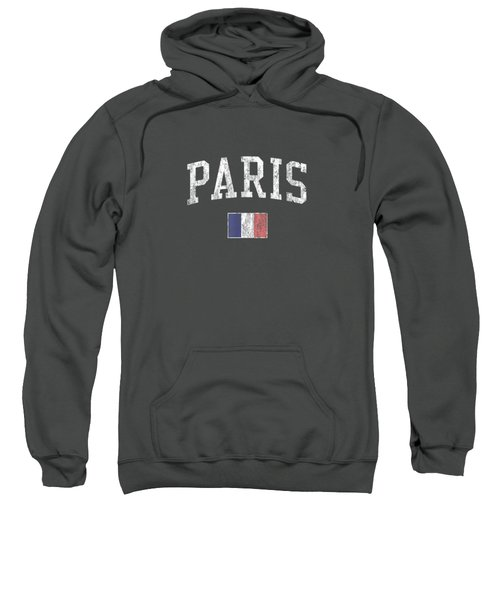 Paris France T-shirt Vintage Sports Design French Flag Tee Sweatshirt