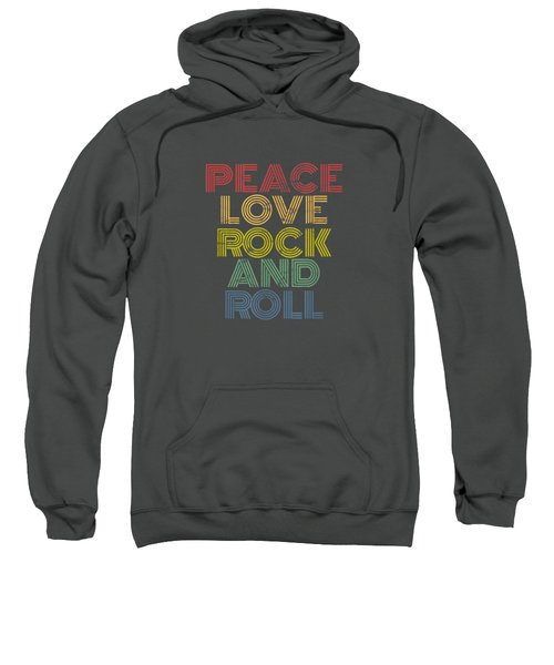 Peace Love Rock And Roll T-shirt Distressed Rock Concert Tee Sweatshirt