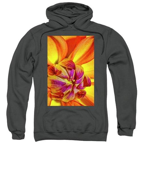 Peach Purple Flower Sweatshirt