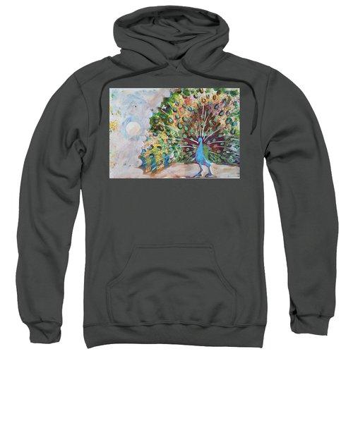 Peacock In Morning Mist Sweatshirt