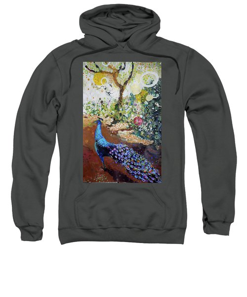Peacock On Path Sweatshirt