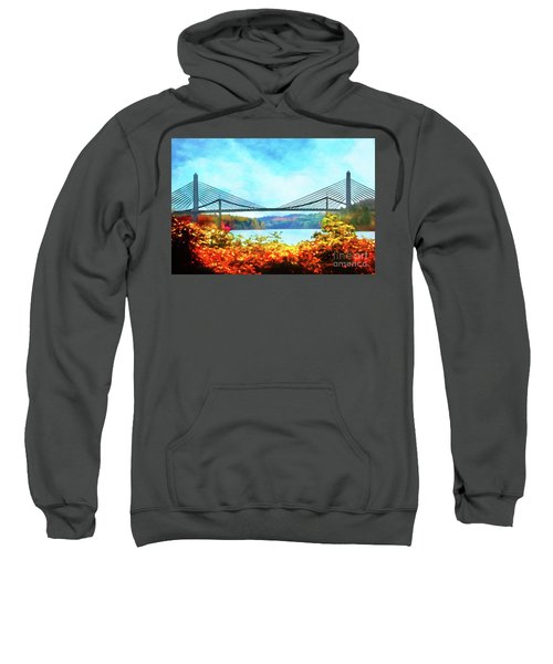 Penobscot Narrows Bridge In Autumn Sweatshirt