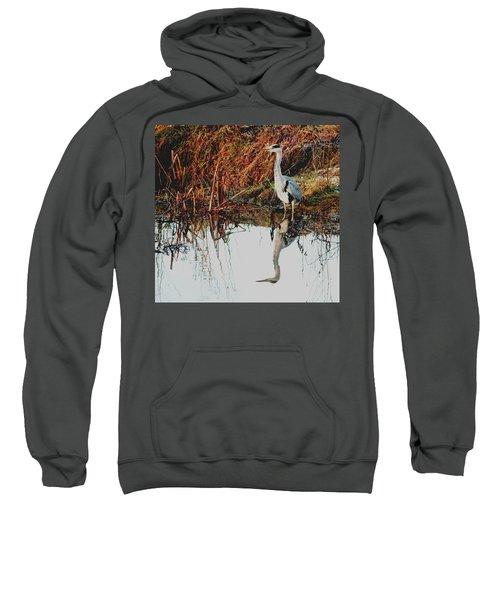 Pensive Heron Sweatshirt