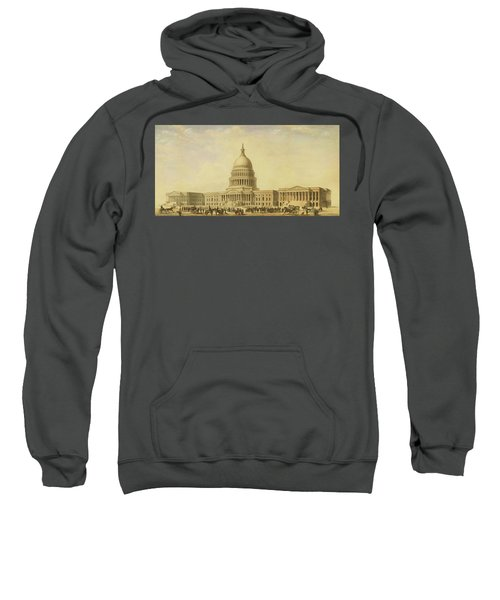Perspective Rendering Of United States Capitol Sweatshirt