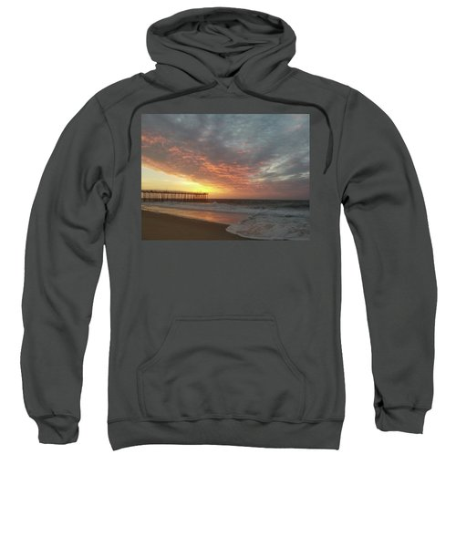 Pink Rippling Clouds At Sunrise Sweatshirt