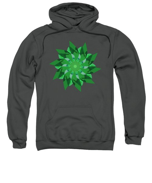 Pinwheel In Green - Transparent Sweatshirt