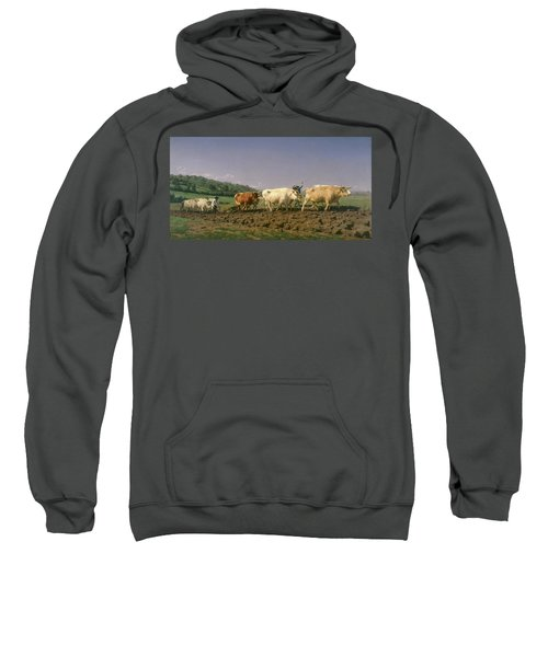 Ploughing In Nevers, 1849 Sweatshirt