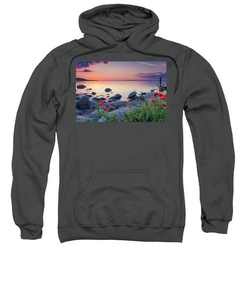 Poppies By The Sea Sweatshirt