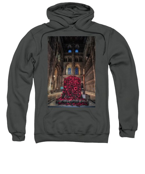 Poppy Display At Ely Cathedral Sweatshirt