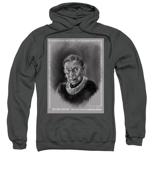 Portrait Of Ruth Bader Ginsburg Sweatshirt
