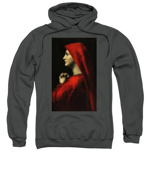 Portrait Of The Holy Fabiola Of Rome Sweatshirt
