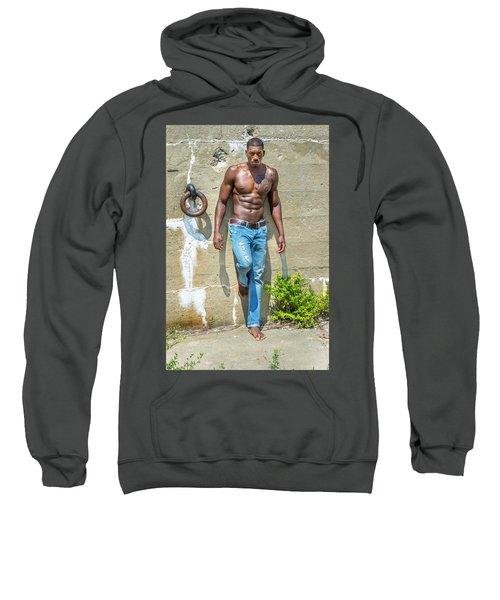 Portrait Of  Young Black Fitness Guy Sweatshirt