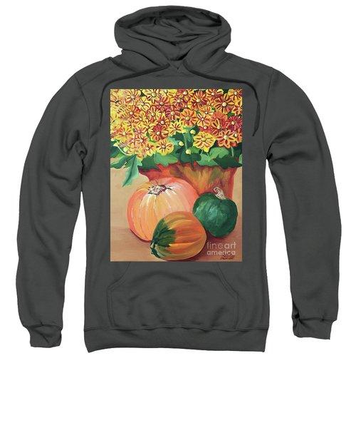 Pumpkin With Flowers Sweatshirt