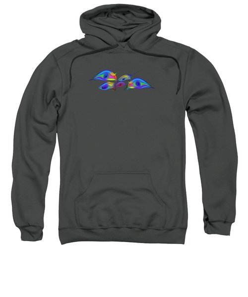 Rainbow Blue Fish Sweatshirt