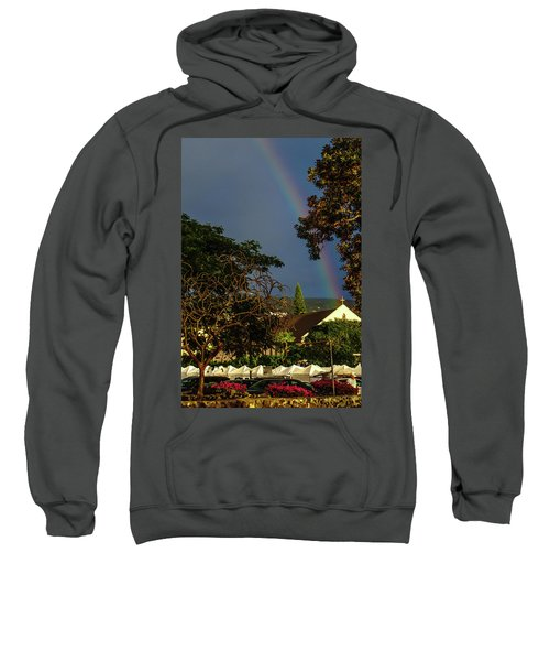 Rainbow Ended At The Church Sweatshirt