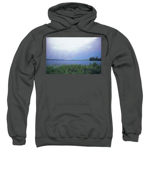 Rainbow Over Raquette Lake Sweatshirt