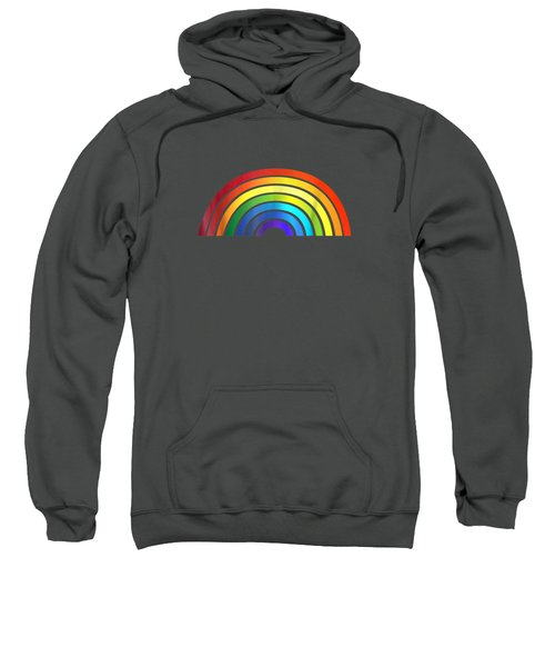 Rainbow T-shirt Simple Style Basic Glossy Stripe Design Sweatshirt