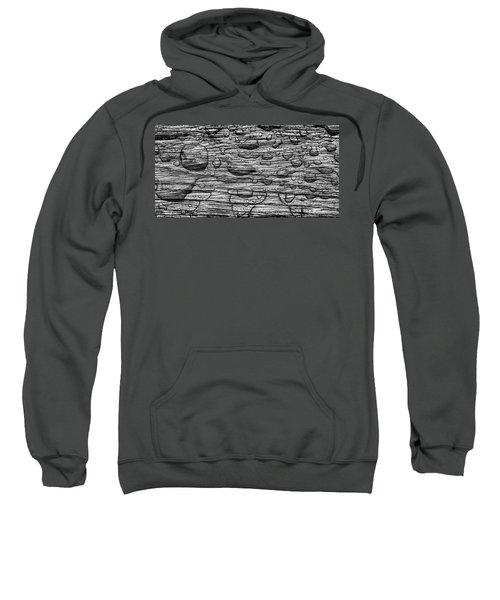 Raindrops On Wood, California, Usa Sweatshirt