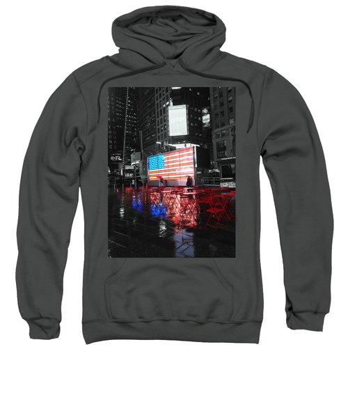Rainy Days In Time Square  Sweatshirt