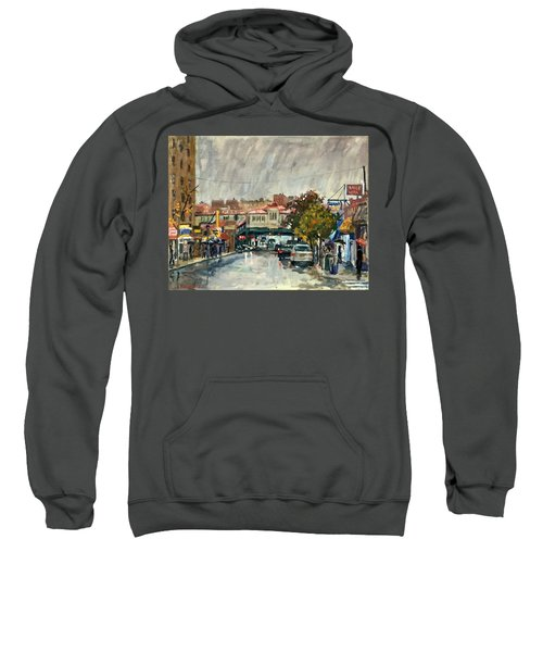 Rainy Morning 231st Street The Bronx Sweatshirt