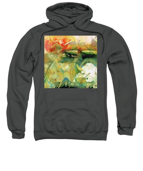 Red And Green Abstract - Soul Flight - Sharon Cummings Sweatshirt