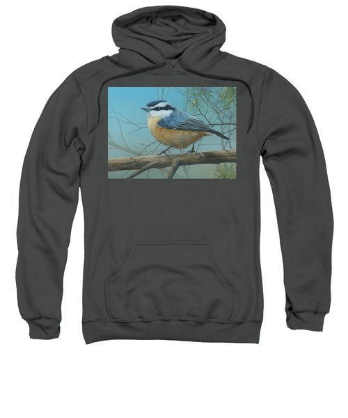 Red Brested Nuthatch Sweatshirt