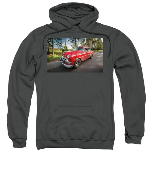 Red Classic Cuban Car Sweatshirt