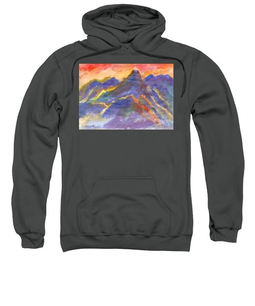 Red Sunset In The Mountains Sweatshirt